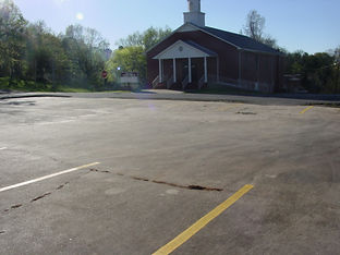 Parking lines at Second Baptist Church, Great Falls, South Carolina
