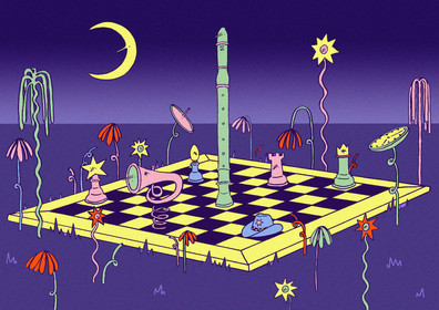 Night Chess from 'Mirage' (2018 zine)