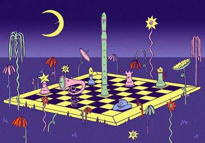 Night Chess from 'Mirage' (2018 zine)