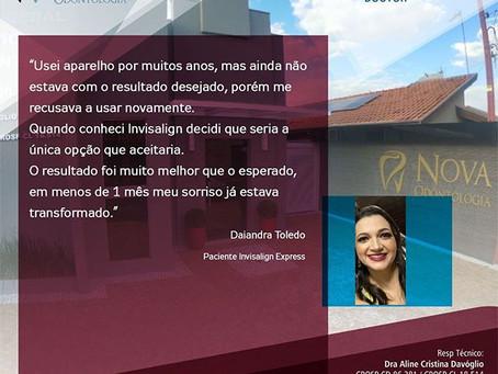 Daiandra Toledo- Paciente Invisalign Express