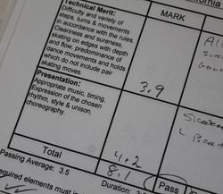 Judges' Test Sheet