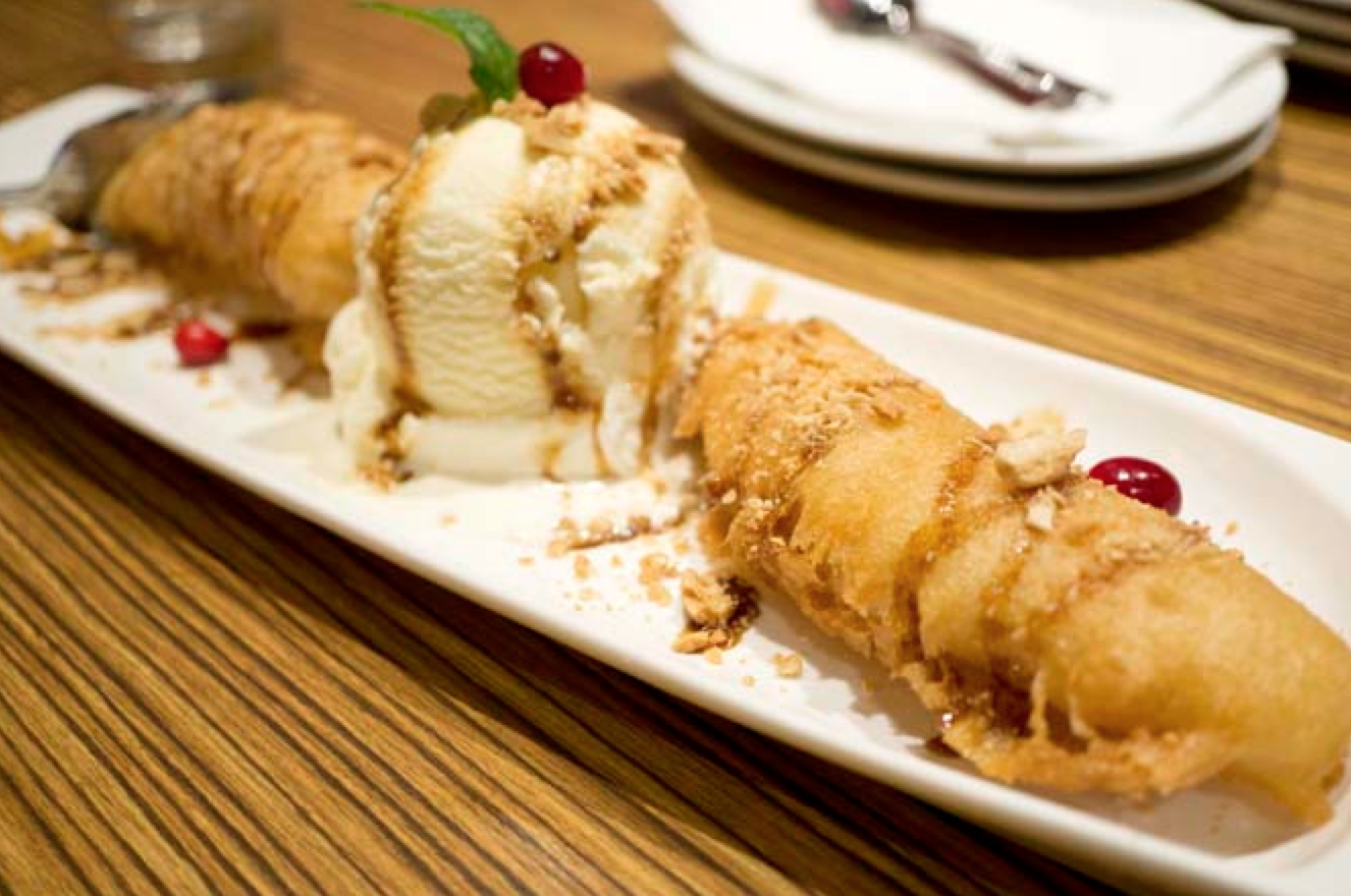 Deep-Fried Banana With Vanilla Ice C