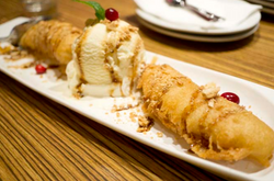 Deep-Fried Banana With Vanilla Ice C