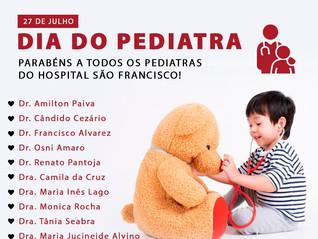 Dia 27 de julho: Dia do Pediatra
