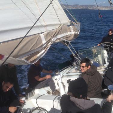 Sortie voile avec un équipage Pilotine sur le Rana II de l'AJD
