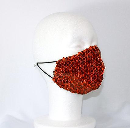 Orange Crush Disco Sequin Mask