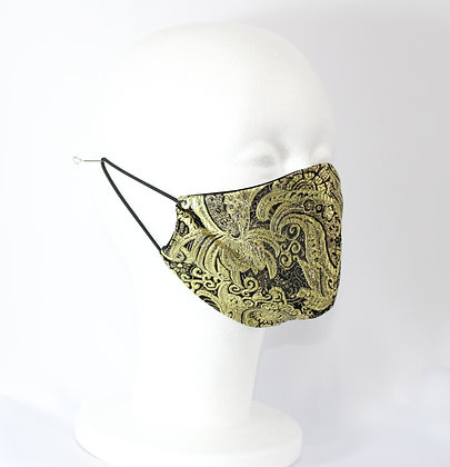 Golden Embroidered  Fashion Mask