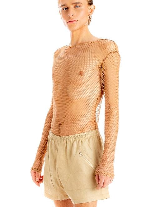 Linen Triangle Pocket Micro Shorts
