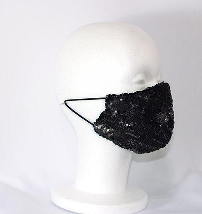 Black Goth Sequin Mask