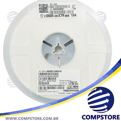 Capacitor Cerâmico 0.1UF 50V X7R 0805