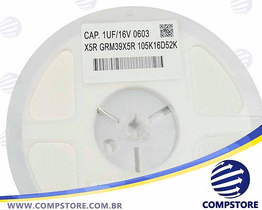 CAPACITOR 1UF/16V 0603 X5R GRM39X5R 105K16D52K