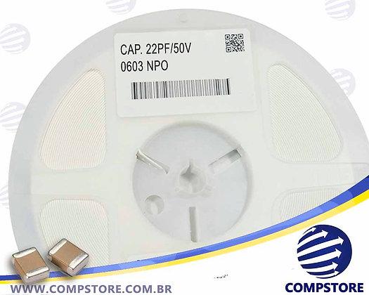 CAPACITOR 22PF/50V 0603 NPO