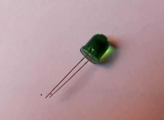 LED Cristalino Verde 10MM