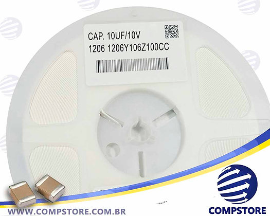 CAPACITOR 10UF/10V 1206 1206Y106Z100CC