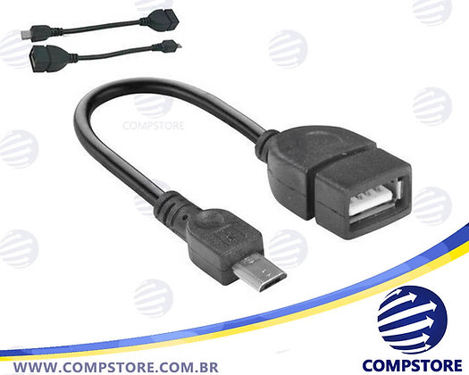 CABO USB-A F OTG X USB MICRO 5P 2.0 15CM