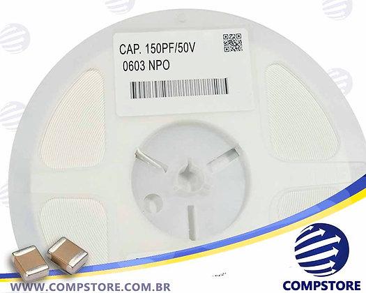 CAPACITOR 150PF/50V 0603 NPO