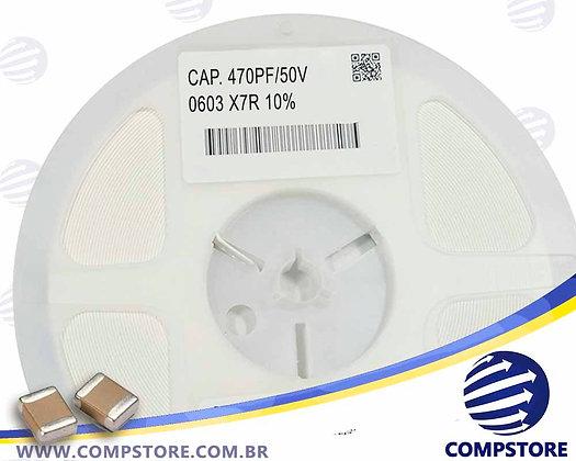 CAPACITOR 470PF/50V 0603 X7R 10%