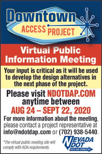Your input is critical for the Downtown Access Project (DAP) by the Nevada Department of Transport