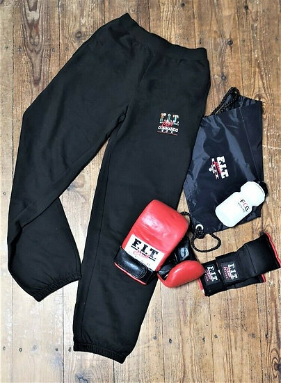 Boxing - kids joggers, bag mitts, inner gloves, sports bag and sports bottle