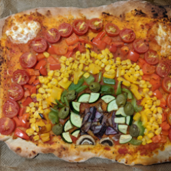Homemade Rainbow Pizza