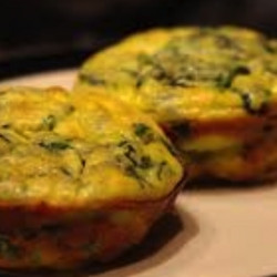 Spinach & Red Pepper Mini Frittatas