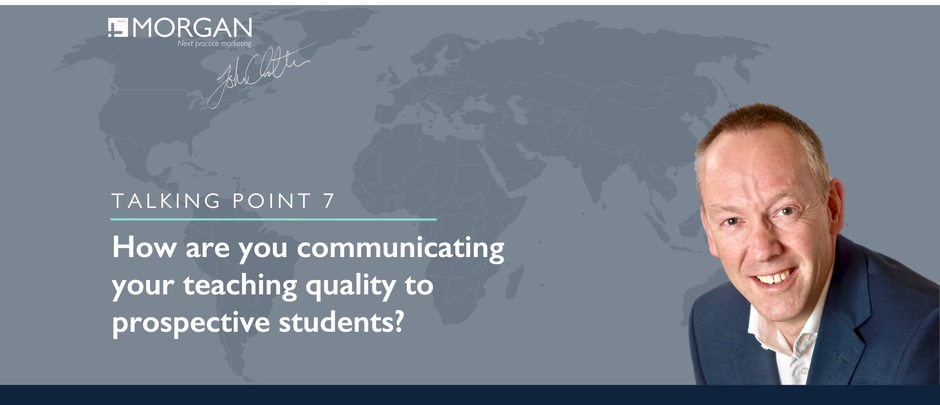 How are you communicating​ your teaching quality to prospective students?