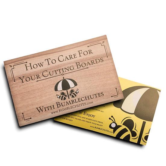 Cutting Board Care Cards