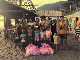Hayama beach cleanup✨ 2019.8.18  #beachc