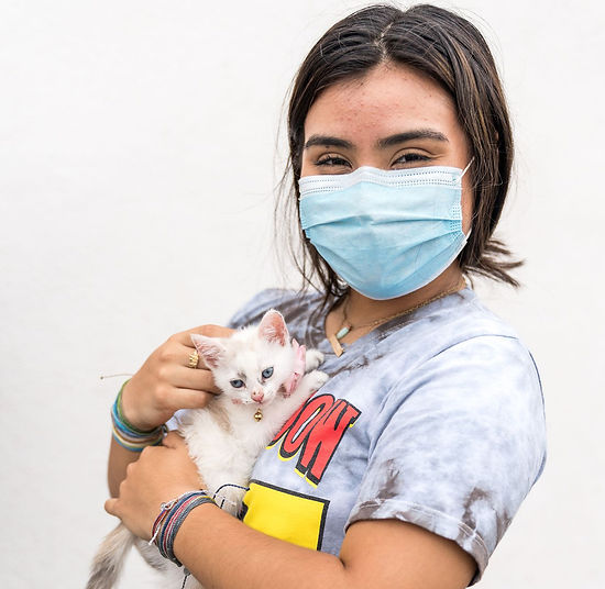 Kitten and Owner from C.A.R.E.4Paws Pet