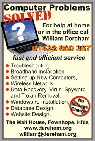 William Dereham Computer Problems