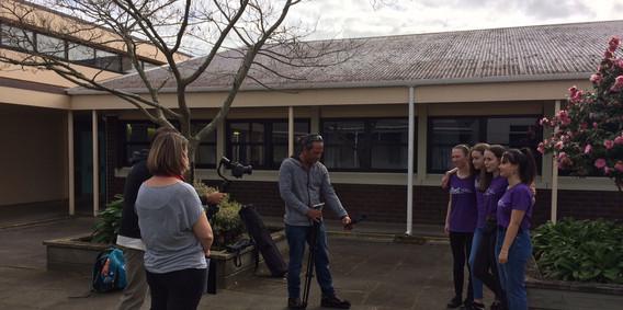 Filming Soul Squad Performance
