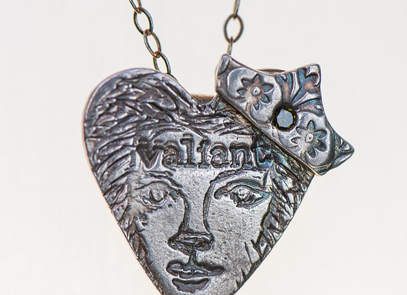 Coeur Pendant #4 Valiant & Fierce