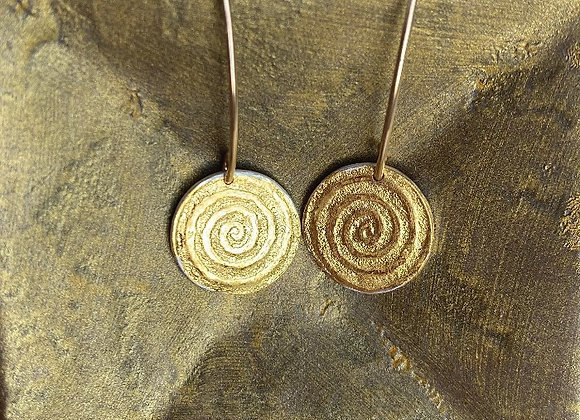 Tiny Ancient Spiral Earrings