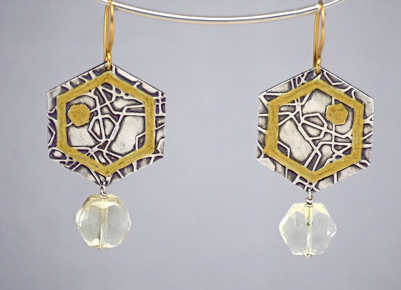 Neo Geo Hexagon Earrings
