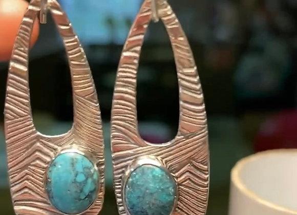 Sea spray- turquoise earrings