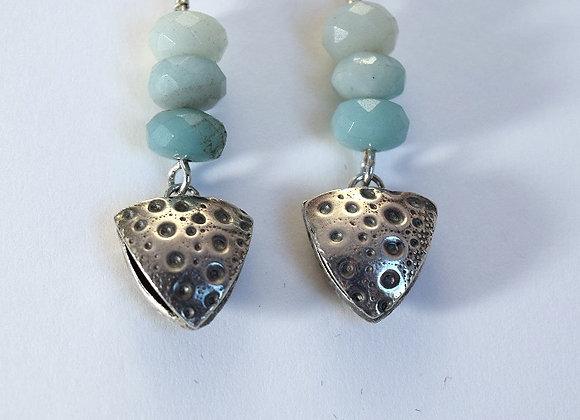 Sea Urchin Triangle Earrings