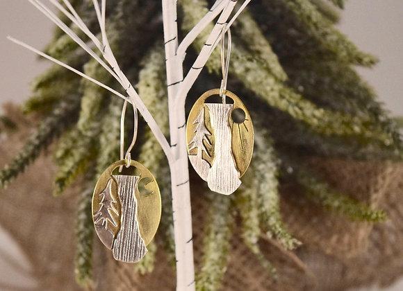 Waterfalls Brass and Sterling Earrings