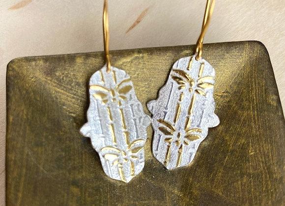 Golden Butterflies & Bamboo