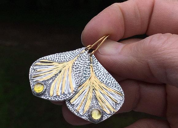 Golden Gingko Earrings