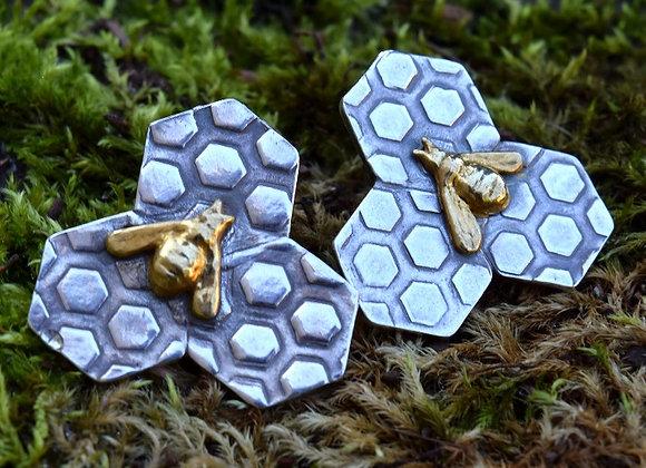 Golden Bee Neo Geo Earrings