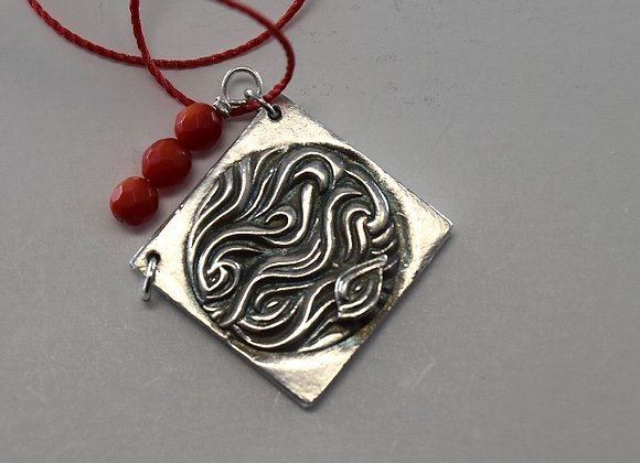 The Flame of Love intention pendant