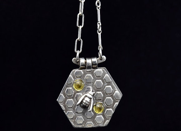 Bee Kind Intention Booklet Pendant