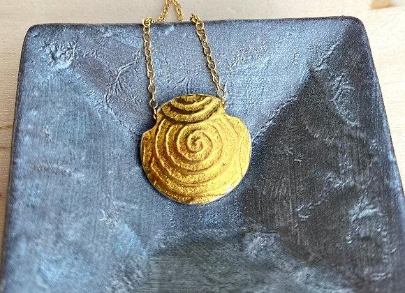 Ancient Spiral Lentil Pendant