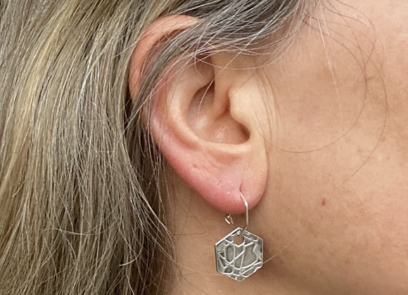 Hexagon Abstract Earrings]