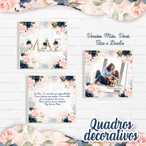 Arquivo Quadro 20x20 Mãe Floral