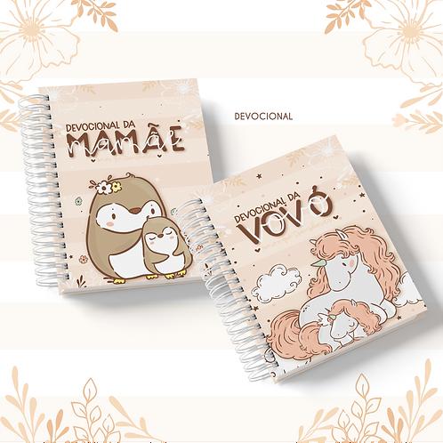 Arquivo Caderno Devocional A5 Mamãe/Vovó Animal