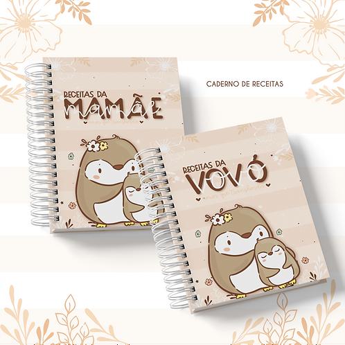 Arquivo Caderno Receitas A5 Mamãe/Vovó Animal