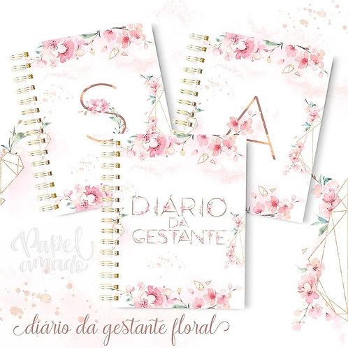Diário da Gestante Floral + Capas