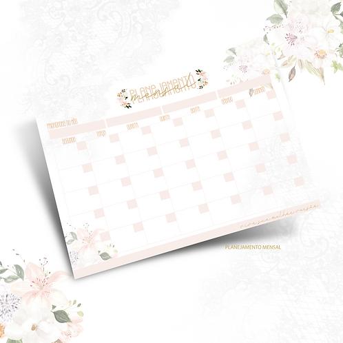 Planejamento mensal Dia das Mães Floral