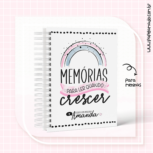 CADERNO DE MEMÓRIAS MENINA